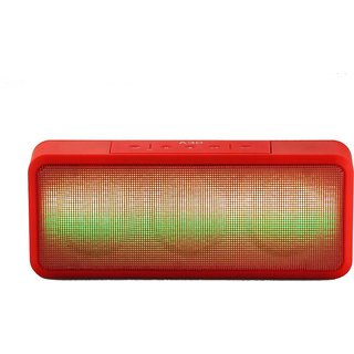 Mectronix A-30 Speaker With Colour Changing LED Lights (Supports Bluetooth USB Aux Memory Card) Portable Bluetooth Mobile/Tablet Speaker (Red 2.1 Channel)