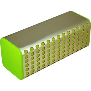 Mectronix B-2 Metal Portable Soundbox With Thump Bass (Supports Bluetooth Aux Memory Card) Portable Bluetooth Mobile/Tablet Speaker (Green 2.1 Channel)