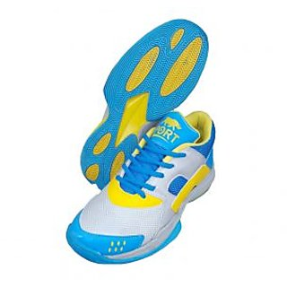 Port Mens Skyblue Dockers Pu Badminton Shoes