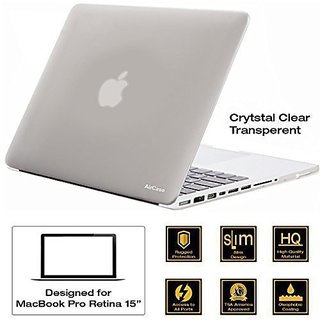 AirPlus AirCase Transparent Crystal Clear Hard Case/ Hard Shell Cover for 15.4 Apple MacBook Pro 15 with DVD Writer