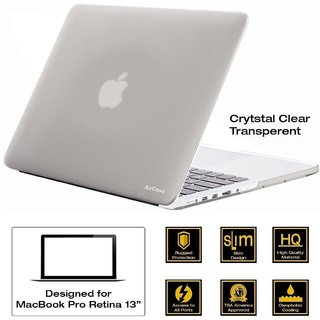 AirPlus AirCase Transparent Crystal Clear Hard Case/ Hard Shell Cover for 13.3 Apple MacBook Pro 13 with Retina Display
