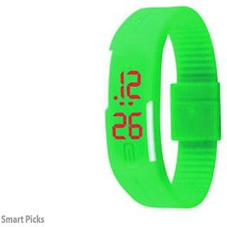 Danzen Digital Green LED Sports Unisex Watch-LED-008