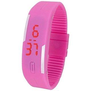 Danzen Digital Pink LED Sports Unisex Watch-LED-010