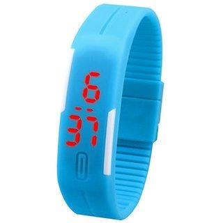 Danzen Digital Sky Blue LED Sports Unisex Watch-LED-009