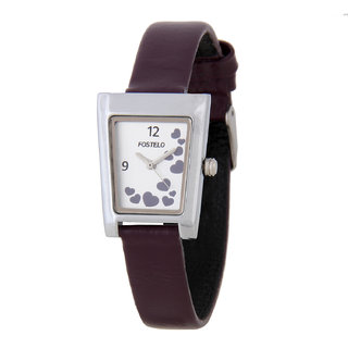 Fostelo Silver Women's Wrist Watches (Design 3)