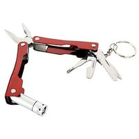 Multi Function Micro Pliers Toolkit LED Light Key Chain Knife Tool Kit - 4251742
