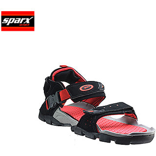 Sparx Black Red Coloured Sandal For Men Ss 502