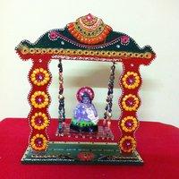 Swinging Jhula Temple With Shri Krishna