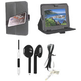 7 Inch  Leather Flip Tab Cover For Videocon Vt75c With Free Earphone