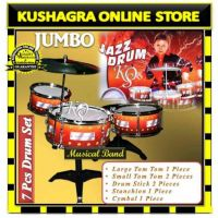 7 Pcs Musical Drum Band Set Playset Gift Toy For Kids - Toys