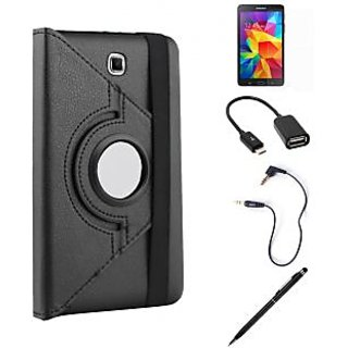 Callmate360 Degree Rotating Case for Samsung Tab 4 8.0 T330+Stylus+OTG+Aux+SG-BK