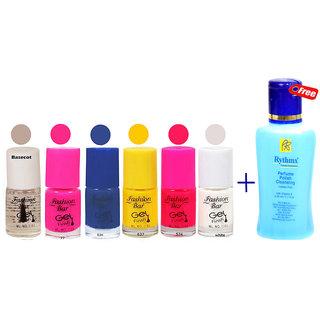 Fashion Bar Nail Polish Kit With Nail Polish Remover Matte 30 ml Pack of 7