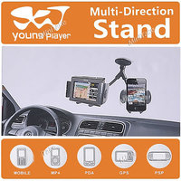 Universal Car Dual 2 Mobile Stand Holder Mount Sucker For Mobile Iphone GPS MP4