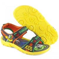 Devee Junior Mischievous Kids Black Yellow All Weather Floater Sport Sandals!