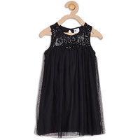 612 League Black Girls GEORGETTE DRESS WITH SEQUIN BOW