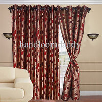Sweet Home 1 Piece Set Of Beautiful Gold Touch Eyelet Door Curtain-code 03