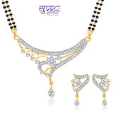 Sukkhi Ritzzy Cz Gold And Rhodium Plated Mangalsutra Set