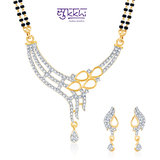 Sukkhi Enchanting Cz Gold And Rhodium Plated Mangalsutra Set