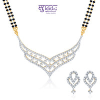 Sukkhi Beguiling Cz Gold And Rhodium Plated Mangalsutra Set