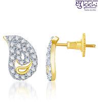 Sukkhi Delightful Gold And Rhodium Plated Cz Earring