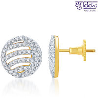 Sukkhi Ritzzy Gold And Rhodium Plated Cz Earring