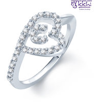 Sukkhi Marvelous Rhodium Plated Cz Ring