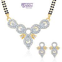 Sukkhi Eye-Catchy Cz Gold And Rhodium Plated Mangalsutra Set