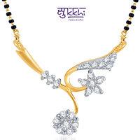 Sukkhi Elegant Wedding CZ Gold And Rhodium Plated Mangalsutra