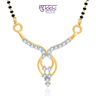 Sukkhi Traditional Cz Gold And Rhodium Plated Mangalsutra Pendant available at ShopClues for Rs.146