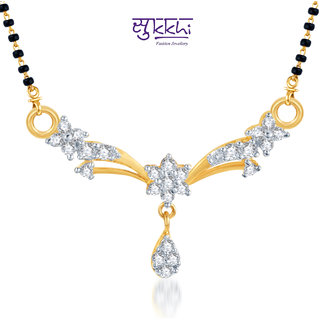 Sukkhi Classic Traditional Cz Gold And Rhodium Plated Mangalsutra Pendant available at ShopClues for Rs.175