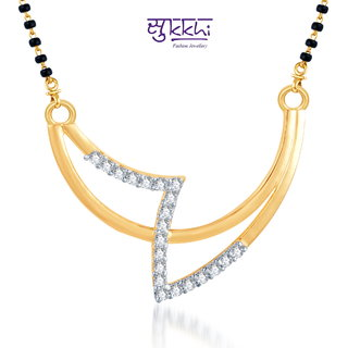 Sukkhi Creative Fashion Cz Gold And Rhodium Plated Mangalsutra Pendant available at ShopClues for Rs.160