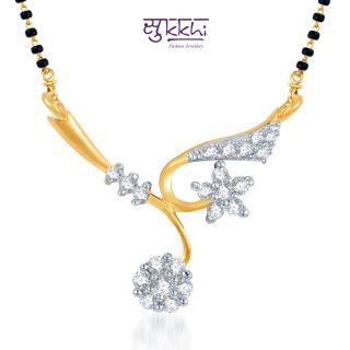Sukkhi Elegant Wedding Cz Gold And Rhodium Plated Mangalsutra Pendant available at ShopClues for Rs.133