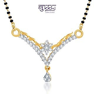 Sukkhi Briliant Cz Gold And Rhodium Plated Mangalsutra Pendant available at ShopClues for Rs.185