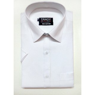 White Regular Fit Half Tangy Shirt