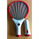 Rechargeable Mosquito Racket With 1 Led On Handel With 5 Led Torch Best Quality