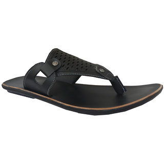 R9 Men's Black Comfortable Sandal