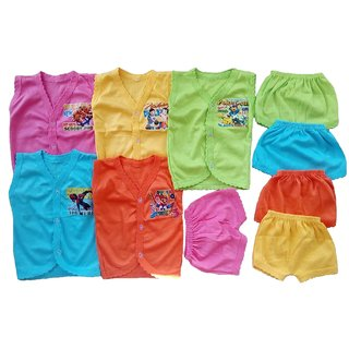 Sonpra Baby soft Cotton Jablas Shorts Baba Suits Combo Set