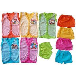 Sonpra Baby Jablas Shorts - Soft Cotton Striped Printed Baba Suits Combo Set