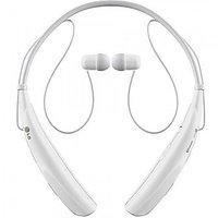 Wireless Bluetooth Stereo Headset Neckband Style LG Tone HBS 730 White