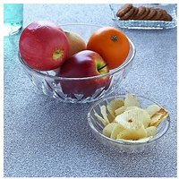 Ocean Glassware-Ocean Diamond Pudding Set Of 7 Pieces(1 Big Bowl, 6 Small Bowls)