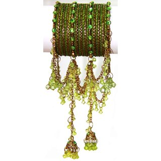Indian Imitation Jumka Bangles (CB-24) Light Green