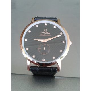Brand New OMEGA Swiss Made Luxury Slim Men's Quartz Watch