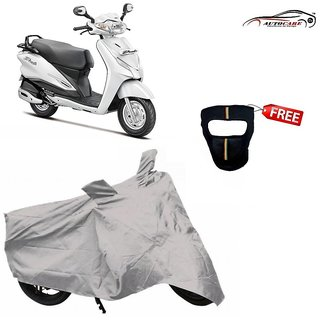 De AutoCare Premium Silver Matty Two Wheeler Scooty Body Cover For Hero Duet With Freebie Face Mask