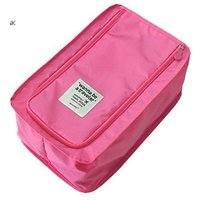 Waterproof Travel Footwear organizer,32*20*13cm,Nylon,Pink_P1B26