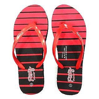 Foxy New TT Black & Red Women's Flip Flops