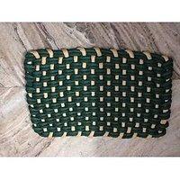 Sweet Home 1 Piece Trap Design Cotton Door Mat - Green