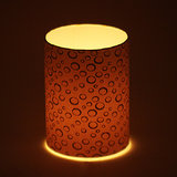 Craftter White Color Round Design  Short Lamp