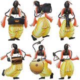 Craftter Pandit Musician-Set Of 5 - Wall Hanging