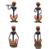 Craftter Female Rajasthani Musician-Set Of 4 - Wall Hanging