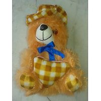 Combo Pack Of Teddy Bear Having Cap And Heart + Teddy Bear Pen Stand